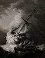 Christ and the apostles in the storm on the sea of Galilee. Wellcome V0034901.jpg
