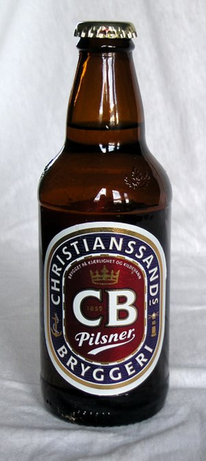 Beer in Norway - CB Pilsner brand (Hansa-Borg)