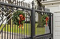 Christmas decoration on White House gate.jpg