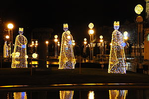 Christmas decorations in Braga, Portugal.