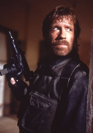 The Delta Force - Chuck Norris on the film set.