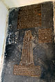 Church of St Christopher, Willingale, Essex, England - interior chancel altar north ledger stone and brasses.JPG