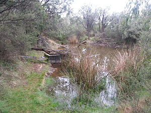 Churchill National Park - The remains of aqueduct and pipeline, Churchill National Park.