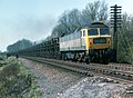 Class 47, no. 47369 on an eastbound fly-ash train, west of Frisby on the Wreake, Leicestershire, Nigel Tout, 20.4.76.jpg