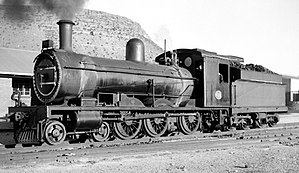 South African Class 6H 4-6-0 - CGR 6th Class no. 607, then no. 547, SAR Class 6H no. 629, at Midlandia Loco, Noupoort