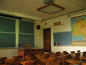 A university classroom. (Jones Hall at Princet...