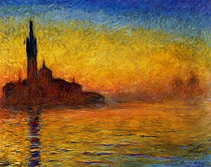 San Giorgio Maggiore at Dusk - Image: Claude Monet Twilight, Venice
