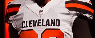2015 Cleveland Browns season - Image: Cleveland Browns New Uniform Unveiling (17153874241)