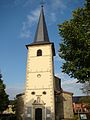 Clocher de l'église de Saeul au Grand-Duché de Luxembourg.JPG