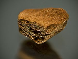 Instant coffee - Close-up view of a granule of Nescafé Gold Blend instant coffee