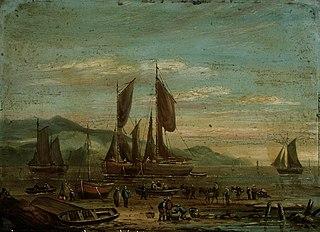 Coastal scene with shipping