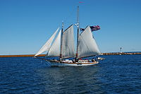 Coaster II under sail.JPG