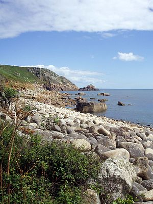 Penwith - Rocky cove at St Loy in the south of the district