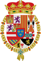 Coat of Arms of the infante Luis de Borbón, before he abandoned the ecclesiastical life.png
