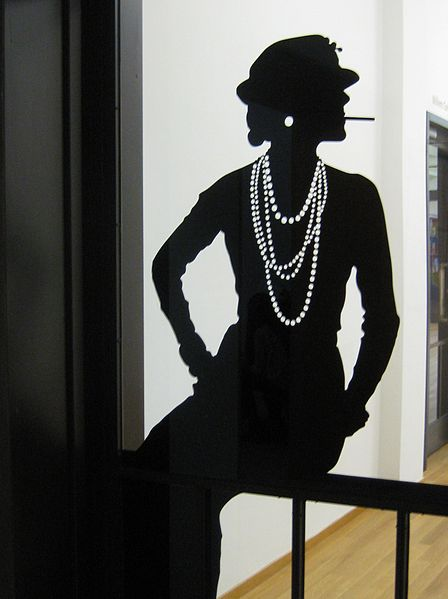 silhouette of Coco Chanel