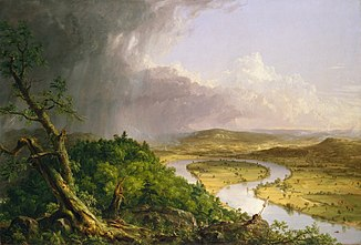 The Oxbow, Connecticut River bei Northampton, 1836, Gemälde von Thomas Cole