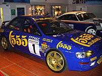 Colin McRae's 1996 Subaru Impreza 555, followi...