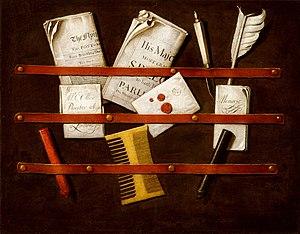 Trompe-l'œil - Trompe-l'œil painting by Evert Collier