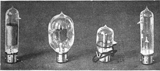 Fleming valve - Early commercial Fleming valves used in radio receivers, 1919