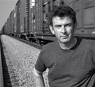 Matthew King (composer) - Matthew King by the railroad tracks in Grable, Indiana.