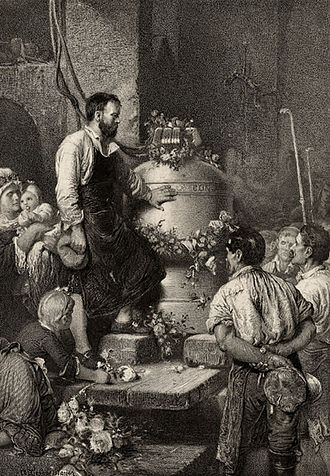 Song of the Bell - Concordia shall be the name. Illustration by Liezen-Mayer
