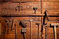 Cooper's tools At Blandy's Wine Lodge, Funchal, Madeira.jpg