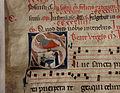 Corali del duomo di grosseto, maestro di sant'angelo in bigiano, iniziale istoriata S con natività di maria, 1285-90 circa.JPG