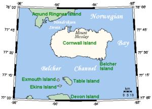 Cornwall Island (Nunavut) - Image: Cornwall Island Closeup