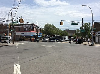 Corona, Queens - The intersection of Corona Avenue, 108th Street, and 52nd Avenue