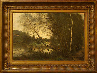 L'étang à l'arbre penché