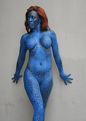 Cosplay of Mystique DragonCon 2011.jpg