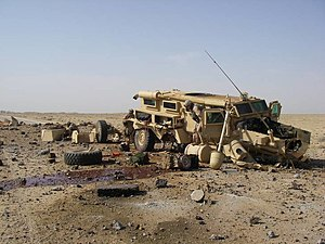 English: This Cougar was hit in Al Anbar, Iraq...