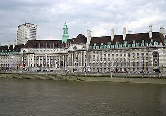 County Hall, London - County Hall from the north bank of the River Thames