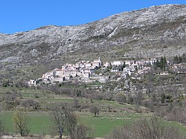 A general view of the village of Coursegoules