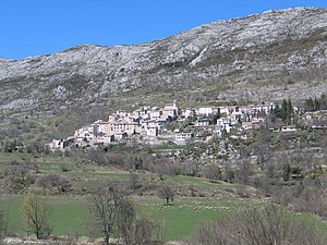 Coursegoules - A general view of the village of Coursegoules