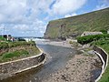 Crackington Haven, the river approaches the beach - geograph.org.uk - 1466124.jpg
