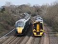 Creech St Michael - GWR 802108 and 158765+158766.JPG