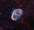 Crescent Nebula, Hydrogen alpha and Oxygen III by Stephan Hamel.jpg