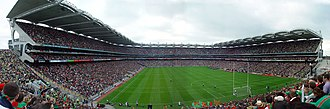 Croke Park in Dublin has hosted all but two finals since 1910. Croke Park from the Hill - 2004 All-Ireland Football Championship Final.jpg