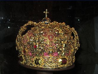 Regalia of Sweden - Crown used by Queen Christina, made for her mother.