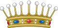 Crown of a Count of France (variant).svg