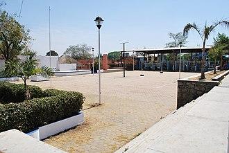 Cuajinicuilapa - Main plaza of Cuajinicuilapa