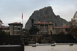 A view from the Cumhuriyet Square and Utku Monument in Afyonkarahisar