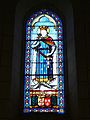 Curçay église Ste Catherine vitrail.JPG