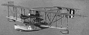 USS Wadsworth (DD-60) - Wadsworth served as a plane guard for the 1919 transatlantic flight attempt by NC-4, a Curtiss NC flying boat.