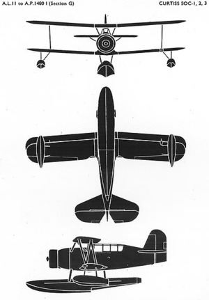 Curtiss SOC Seagull - Drawings for the SOC/SON Seagull.