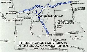 Battle of the Little Bighorn - 1876 Army Campaign against the Sioux
