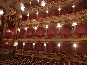Cuvilliés Theatre - Interior of the Cuvilliés Theatre, 2009