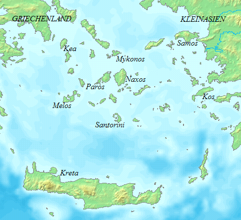 Cyclades map names de