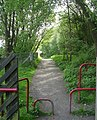 Cycle path alongside Mytholmroyd Station - geograph.org.uk - 810121.jpg